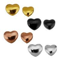 Edelstahl-Beads, Edelstahl, Herz, plattiert, verschiedene Größen vorhanden, keine, Bohrung:ca. 2mm, 10PCs/Tasche, verkauft von Tasche