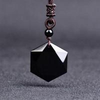 Nylonschnur Halskette, mit Obsidian, unisex & facettierte, verkauft per ca. 18 ZollInch Strang
