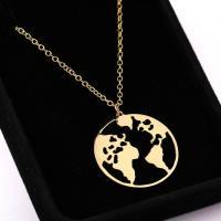 Zinklegierung Schmuck Halskette, plattiert, Oval-Kette & für Frau, keine, verkauft per ca. 17.7 ZollInch Strang