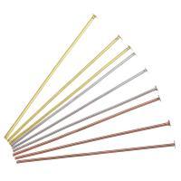 Messing Ball Head Pin, plattiert, verschiedene Größen vorhanden, keine, 1000PCs/Menge, verkauft von Menge