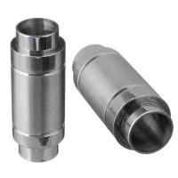 Edelstahl Magnetverschluss, originale Farbe, 24x9x9mm, Innendurchmesser:ca. 6mm, 10PCs/Menge, verkauft von Menge
