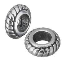Edelstahl European Perlen, Rondell, ohne troll & Schwärzen, 8.50x3.50x8.50mm, Bohrung:ca. 4.5mm, 10PCs/Menge, verkauft von Menge