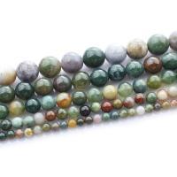 Natürliche Indian Achat Perlen, Indischer Achat, rund, verschiedene Größen vorhanden, verkauft per ca. 15.5 ZollInch Strang