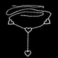 Zinklegierung Taillenkette, silberfarben plattiert, verschiedene Stile für Wahl & für Frau & mit Strass, frei von Nickel, Blei & Kadmium, verkauft per ca. 27.6 ZollInch, ca. 45.7 ZollInch, ca. 38.6 ZollInch Strang