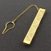 Edelstahl Krawattenklammer, goldfarben plattiert, für den Menschen, 57mm, verkauft von PC
