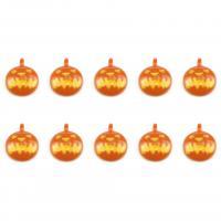 Zinklegierung Anhänger, Kürbis, goldfarben plattiert, Halloween Schmuck & Emaille, 13mm, Bohrung:ca. 0.5mm, 20PCs/Menge, verkauft von Menge
