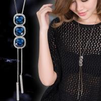 Zinklegierung Pullover Halskette, plattiert, verschiedene Stile für Wahl & für Frau, frei von Blei & Kadmium, Länge:ca. 31.4 ZollInch, verkauft von PC