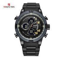 MIZUMS® Uhrenkollektion, Glas, mit Edelstahl & Zinklegierung, plattiert, für den Menschen, keine, 50x13mm, Länge:ca. 8.6 ZollInch, verkauft von PC