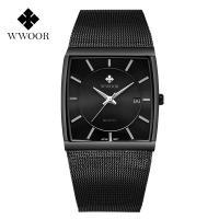 WWOOR® Collection Uhr, Glas, mit Edelstahl & Zinklegierung, plattiert, für den Menschen, keine, 37x34x11mm, Länge:ca. 8.6 ZollInch, verkauft von PC