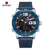 Reward® Uhrenkollektion, Glas, mit PO Leder & Zinklegierung, plattiert, für den Menschen, keine, 45x15mm, Länge:ca. 9.4 ZollInch, verkauft von PC