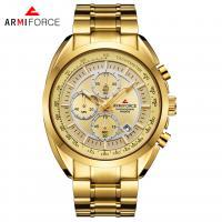 ARMIFORCE® Uhrenkollektion, Glas, mit Edelstahl & Zinklegierung, plattiert, für den Menschen, keine, 44x12mm, Länge:ca. 9.6 ZollInch, verkauft von PC