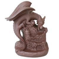 Porcelain Backflow Incense Burner, Lila Sand, Drachen, 125x145mm, verkauft von PC