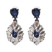 Zinklegierung Tropfen Ohrring, mit Kristall, für Frau, 21x48mm, verkauft von Paar