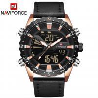 NAVIFORCE® Uhrenkollektion, Glas, mit PO Leder & Zinklegierung, plattiert, für den Menschen, keine, 46x16mm, Länge:ca. 10.2 ZollInch, verkauft von PC