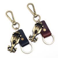 Schlüsselanhänger, Zinklegierung, mit Leder, antike Bronzefarbe plattiert, keine, 25x60mm, verkauft von PC