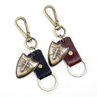 Schlüsselanhänger, Zinklegierung, mit Leder, antike Bronzefarbe plattiert, keine, 35mm, verkauft von PC