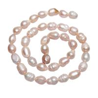 Barock kultivierten Süßwassersee Perlen, Natürliche kultivierte Süßwasserperlen, Klumpen, natürlich, Rosa, 6-7mm, Bohrung:ca. 0.8mm, verkauft per ca. 15 ZollInch Strang