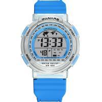 PANARS® Uhrenkollektion, Kunststoff, mit Glas & Edelstahl, plattiert, Multifunktions & unisex & LED & wasserdicht & glänzend, keine, 48x16.5mm, 26.5mm, Länge:ca. 9.8 ZollInch, verkauft von PC