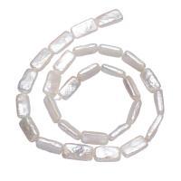Barock kultivierten Süßwassersee Perlen, Natürliche kultivierte Süßwasserperlen, Rechteck, natürlich, weiß, 17-18mm, verkauft per ca. 15.3 ZollInch Strang