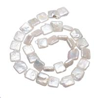 Barock kultivierten Süßwassersee Perlen, Natürliche kultivierte Süßwasserperlen, Klumpen, natürlich, weiß, 10-11mm, verkauft per ca. 15.3 ZollInch Strang