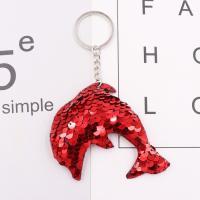 Kunststoff Schlüsselanhänger, mit Eisen, Tier, silberfarben plattiert, doppelseitig, frei von Nickel, Blei & Kadmium, 100mm, verkauft von PC