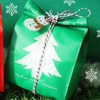 Weihnachtsgeschenkbeutel, Kunststoff, Weihnachtsschmuck, keine, 95x26x67mm, 50PCs/Tasche, verkauft von Tasche