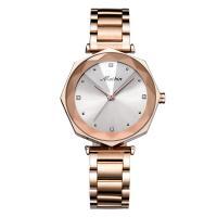 MEIBIN® Damen Schmuck Uhren, Zinklegierung, mit Glas, Rósegold-Farbe plattiert, für Frau & mit Strass, keine, 37x10.5mm, Länge:ca. 7.8 ZollInch, verkauft von PC