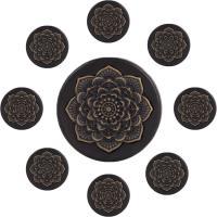 Holz Piercing Durchstich, mit Messing, Datura Stramonium, Messing antik Farbe überzogen, unisex & verschiedene Größen vorhanden, frei von Nickel, Blei & Kadmium, 10-25mm, 2PCs/Menge, verkauft von Menge