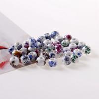 Porzellan Schmuckperlen, Trommel, verschiedene Größen vorhanden, gemischte Farben, Bohrung:ca. 2mm, 50PCs/Tasche, verkauft von Tasche