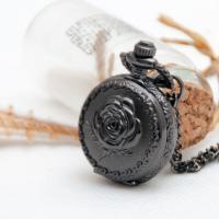 Mode Halskette Uhr, Zinklegierung, mit Glas, für Frau, 25mm, verkauft per ca. 31.5 ZollInch Strang