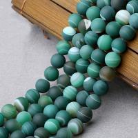Natürliche grüne Achat Perlen, Grüner Achat, verschiedene Größen vorhanden & satiniert, verkauft per ca. 15 ZollInch Strang
