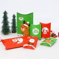 Papier Weihnachts-Geschenkbox, verschiedene Größen vorhanden & verschiedene Muster für Wahl, 50PCs/Menge, verkauft von Menge