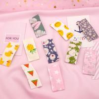 Klick Klack Spange, Stoff, mit Eisen, verschiedene Muster für Wahl, farbenfroh, 60mm, verkauft von PC
