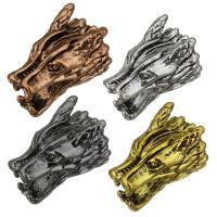 Messing Schmuckperlen, Drachen, plattiert, keine, 9x15x11mm, Bohrung:ca. 2mm, 100PCs/Menge, verkauft von Menge