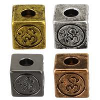 Messing Schmuckperlen, plattiert, keine, 8x8x8mm, Bohrung:ca. 3mm, 100PCs/Menge, verkauft von Menge