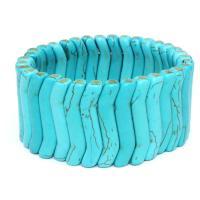 Mode Türkis Armbänder, Natürliche Türkis, mit elastischer Faden, elastisch & unisex & Strahlenschutz, Länge:ca. 8 ZollInch, 3SträngeStrang/Menge, verkauft von Menge