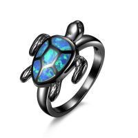 Messing Fingerring, mit Opal, plattiert, verschiedene Größen vorhanden & für Frau, keine, 18x21mm, verkauft von PC
