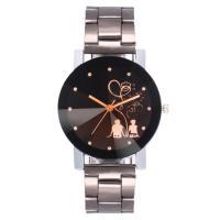 Ehepaar Uhrenarmbänder, Zinklegierung, mit Glas, verschiedene Größen vorhanden & für paar, frei von Nickel, Blei & Kadmium, Länge:ca. 9.5 ZollInch, verkauft von PC