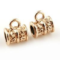 Zinklegierung Stiftöse Perlen, goldfarben plattiert, frei von Blei & Kadmium, 9x10x7mm, Bohrung:ca. 1.5x4mm, 20PCs/Tasche, verkauft von Tasche