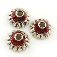Zinklegierung Perlenkappe, antik silberfarben plattiert, frei von Blei & Kadmium, 11x5mm, Bohrung:ca. 1.5mm, verkauft von PC