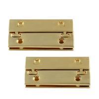 Zinklegierung Tasche-Schnalle, Rechteck, goldfarben plattiert, frei von Blei & Kadmium, 18x40x7mm, 5PCs/Tasche, verkauft von Tasche