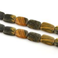 Naturstein Perle, Rechteck, 15x20x5mm, Bohrung:ca. 1mm, 19PCs/Strang, verkauft per ca. 15.7 ZollInch Strang