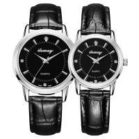 Ehepaar Uhrenarmbänder, PU Leder, mit Zinklegierung, rund, verschiedene Stile für Wahl & wasserdicht & für paar, keine, verkauft von PC