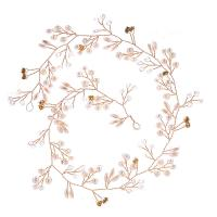 Messing Schweißband, mit Perlen, plattiert, für Braut & verschiedene Größen vorhanden, keine, frei von Blei & Kadmium, verkauft von Strang