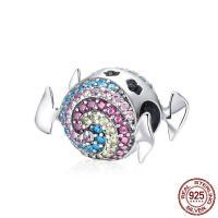Thailand European Perlen, ohne troll & mit kubischem Zirkonia, 11x15mm, Bohrung:ca. 4.5-5mm, verkauft von PC
