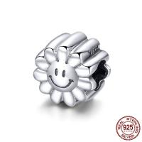 Thailand European Perlen, Blume, ohne troll, 10x10mm, Bohrung:ca. 4.5-5mm, verkauft von PC