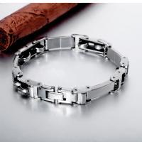 Titanstahl Armband, mit Silikon, für den Menschen, 10mm, verkauft per ca. 8.5 ZollInch Strang
