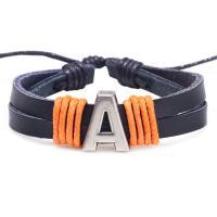 Kuhhaut Armband, mit Zinklegierung, antik silberfarben plattiert, unisex & verschiedene Stile für Wahl, verkauft per ca. 7.8 ZollInch Strang