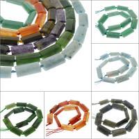 Mischedelstein Perlen, Edelstein, verschiedenen Materialien für die Wahl, 24x13x7mm, Bohrung:ca. 1mm, ca. 12PCs/Strang, verkauft per ca. 16.1 ZollInch Strang