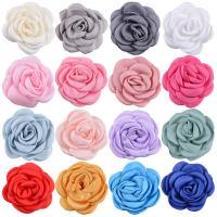 Haarschmuck DIY Ergebnisse, Chiffon, Blume, handgemacht, 3D-Effekt, keine, 60mm, 5PCs/Tasche, verkauft von Tasche